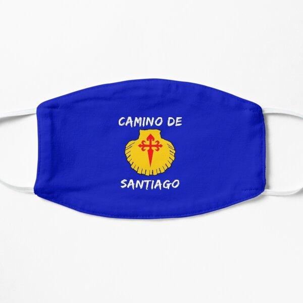 Buen camino de santiago. Compostela Peregrino Mascarilla plana