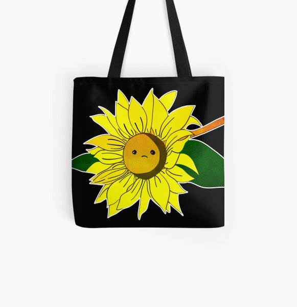 Sad sunflower  All Over Print Tote Bag