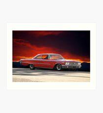 """1963 Ford Galaxie '427"""" Art Print"""