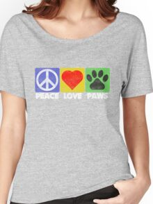 Peace Love Paws Women's Relaxed Fit T-Shirt
