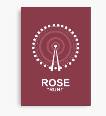 Minimalist 'Rose' Poster Canvas Print