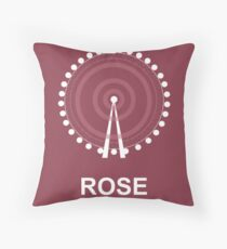 Minimalist 'Rose' Poster Throw Pillow