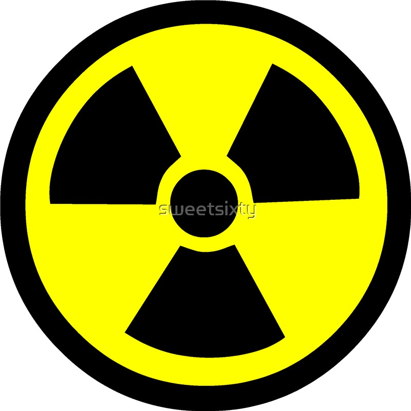 Radioactive Symbol Stickers By Sweetsixty Redbubble