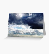 New York City Clouds Greeting Card