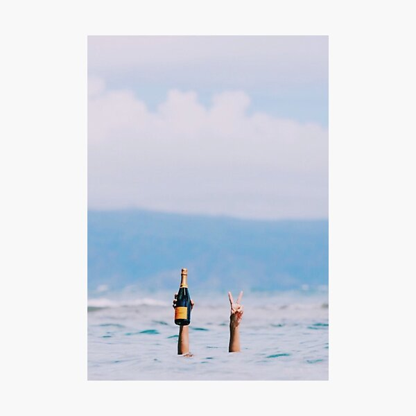Champagne in the Ocean Photographic Print