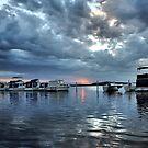 Rippled Glass Sunset - Swansea NSW Australia by Bev Woodman