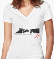 EYES OF COURAGE Women's Fitted V-Neck T-Shirt
