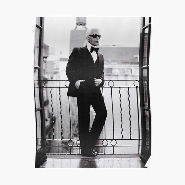 Karl Lagerfeld à Paris Poster