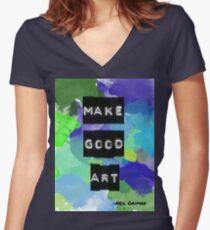 Faites de l'art Neil Gaiman Quote T-shirt col V femme