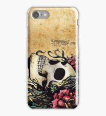 Spanish Rose Skull Tattoo iPhone Case/Skin