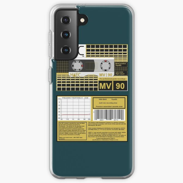 Hudson Audio Equipment Co. MV90 metal evaporated type 4 cassette (front and back) Samsung Galaxy Soft Case