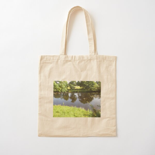 Merch #95 -- Stream Between Trees - Shot 4 (Hadrian's Wall) Cotton Tote Bag