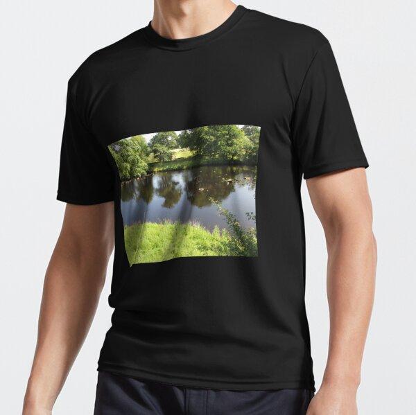 Merch #95 -- Stream Between Trees - Shot 4 (Hadrian's Wall) Active T-Shirt