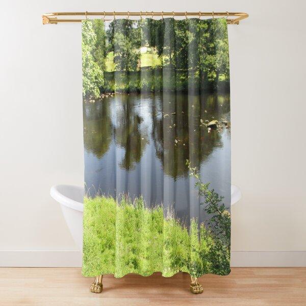Merch #95 -- Stream Between Trees - Shot 4 (Hadrian's Wall) Shower Curtain
