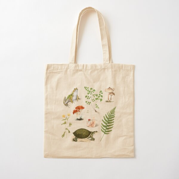 Cottagecore Pond Cotton Tote Bag