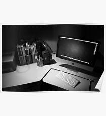My desk : The modern day photographers dark room. Poster