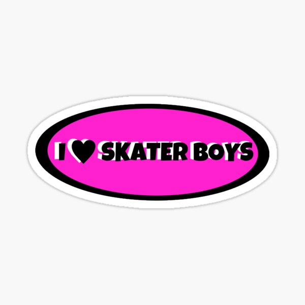 I Love Skater Boys Sticker Sticker