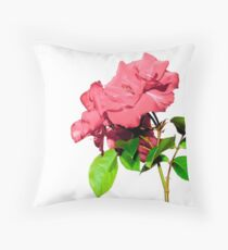 roses with white background Throw Pillow
