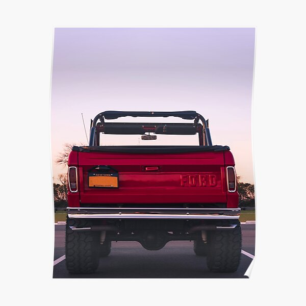 Ford Bronco Rear Poster
