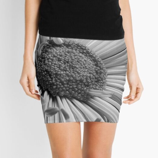 Black and White Flower Mini Skirt
