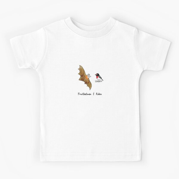 Fruitbatman and Robin - Raising funds for Bat Conservation and Rescue Qld Inc. Kids T-Shirt