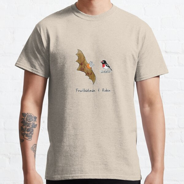 Fruitbatman and Robin - Raising funds for Bat Conservation and Rescue Qld Inc. Classic T-Shirt