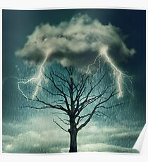 Dramatic storm Poster