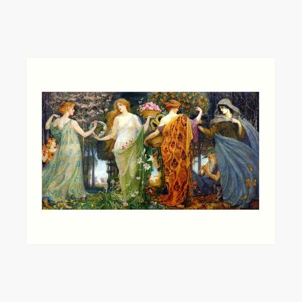 The Masque For the Four Seasons - Walter Crane Art Print