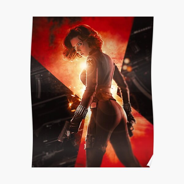 red black gun Poster