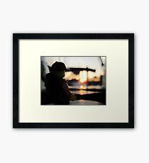 Jerry at sunset Framed Print
