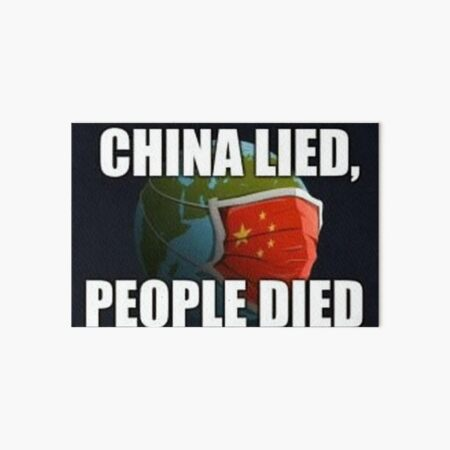 China Lied People Died Art Board Print