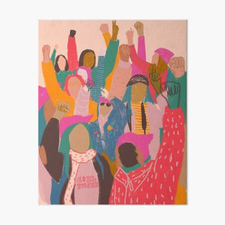 Women's March Poster Art Board Print