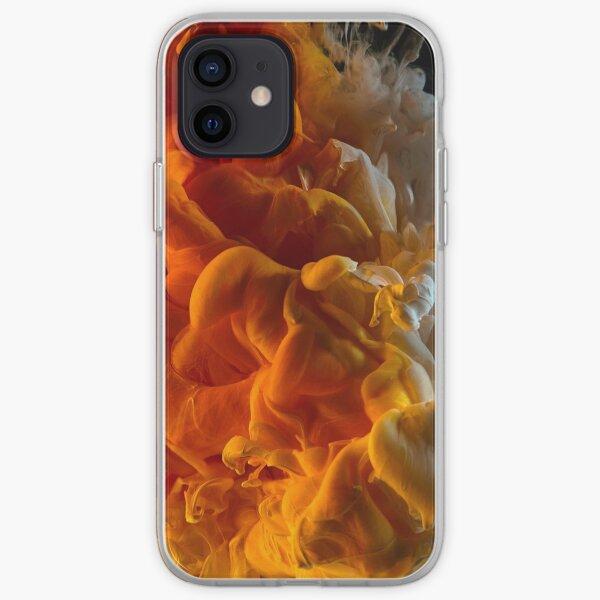 Orange and White Cloud iPhone Soft Case