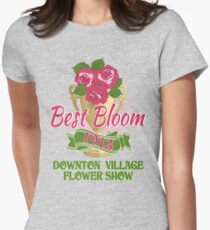 Downton Abbey Inspired - Downton Village Flower Show - Best Bloom - Grantham Cup Trophy Womens Fitted T-Shirt