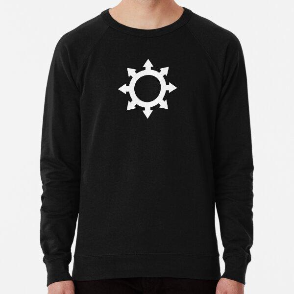 DarkCompass Logo - White Lightweight Sweatshirt