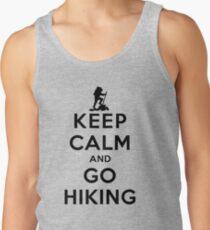 Camisetas de tirantes para hombre Mantenga la calma y el senderismo (LS)