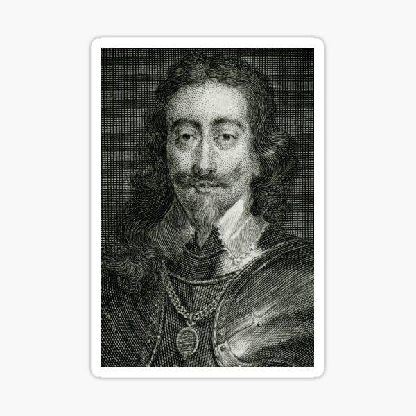 Cavalier English King beheaded 1649 Sticker