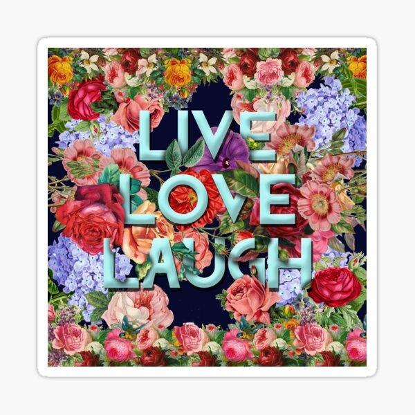 Live, Love, Laugh_aqua Sticker