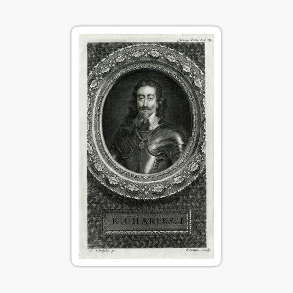 Civil War English King beheaded 1649 Sticker