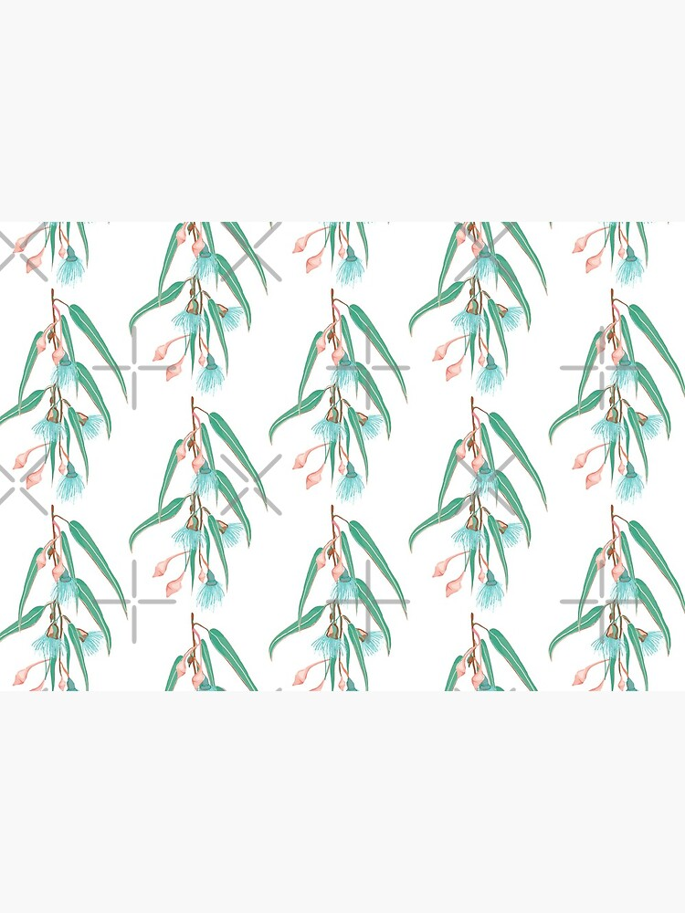 Summer Fun Eucalyptus Pattern - Peach and Teal Color Palette by sketchbookjo
