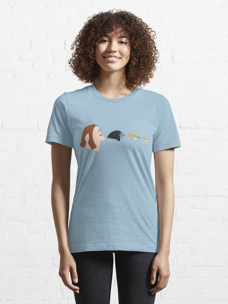 Alternate view of Darwin and Finches Essential T-Shirt