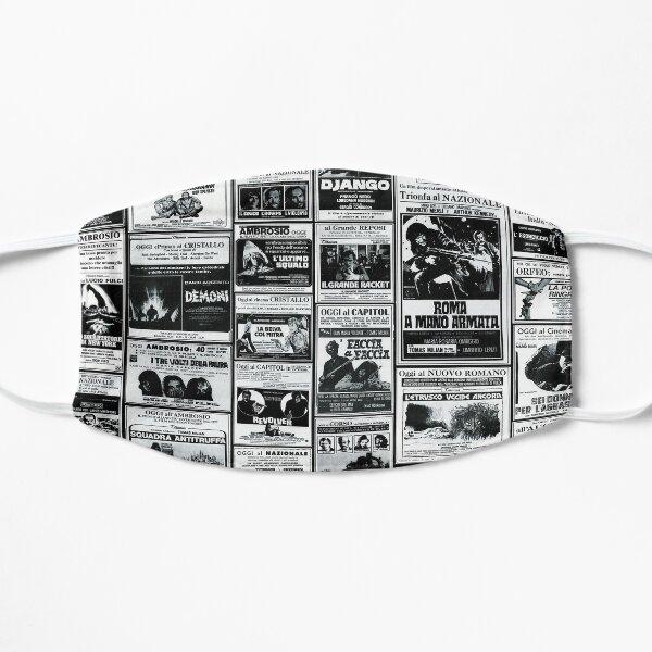 Italian Newspaper Cult Movies ads Flat Mask