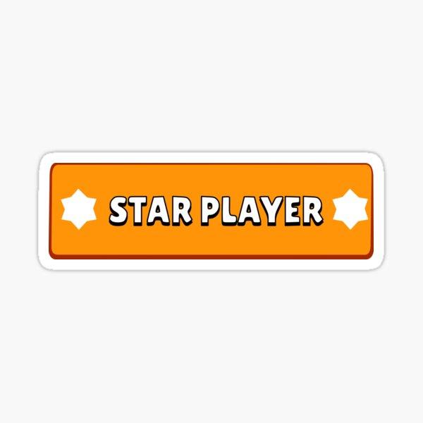 Jugador estrella de Brawl Star Pegatina