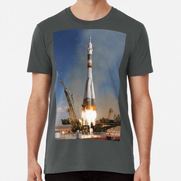 Soyouz fusée vaisseau spatial T-shirt URSS programme spatial soviétique Vostok CCCP S 5XL
