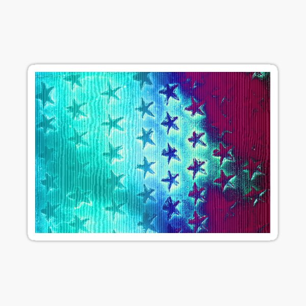 stars blue green purple Sticker