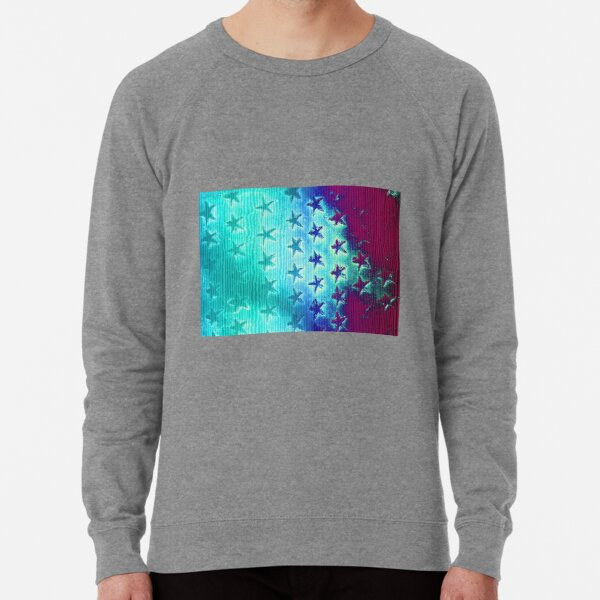 stars blue green purple Lightweight Sweatshirt