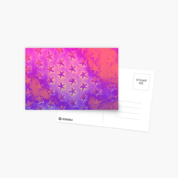stars pink purple Postcard