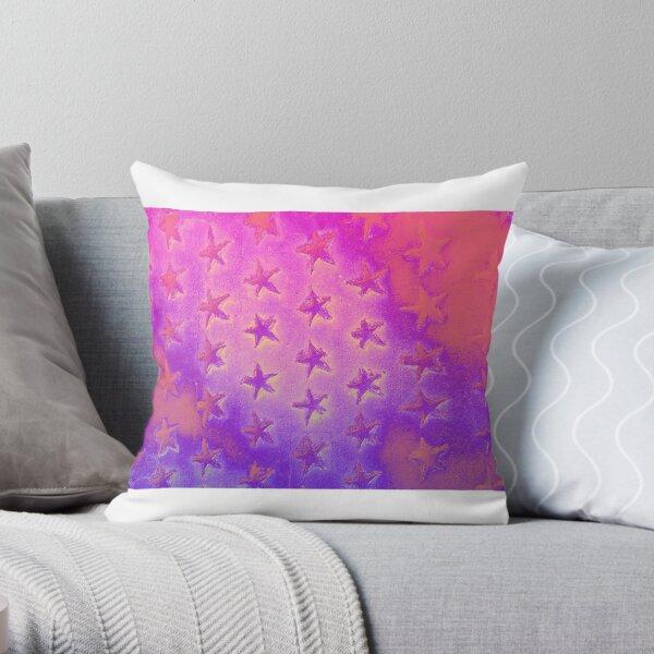 stars pink purple Throw Pillow