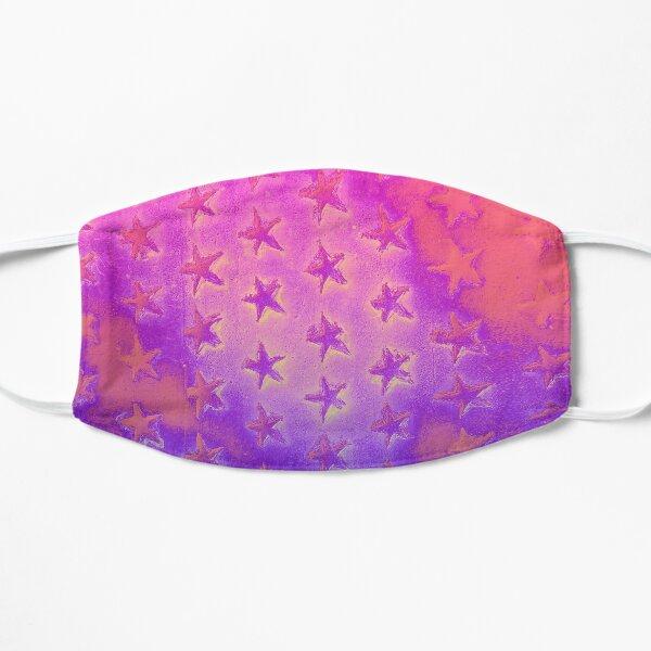 stars pink purple Flat Mask