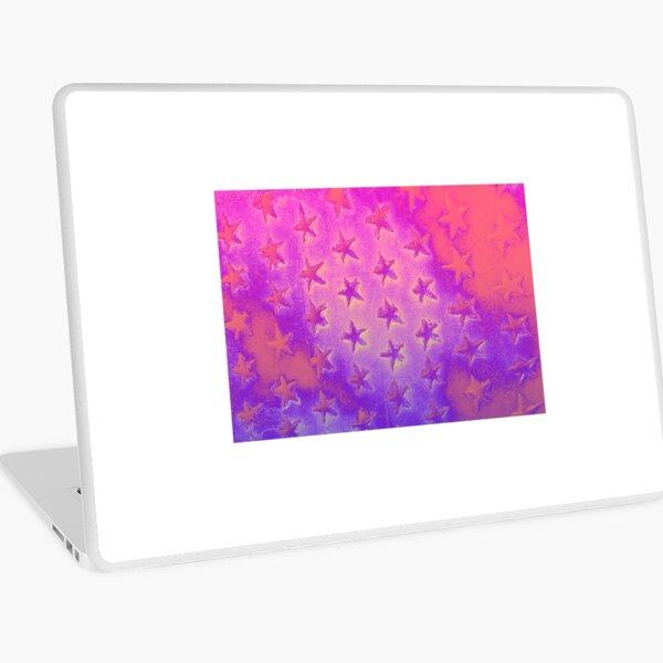 stars pink purple Laptop Skin